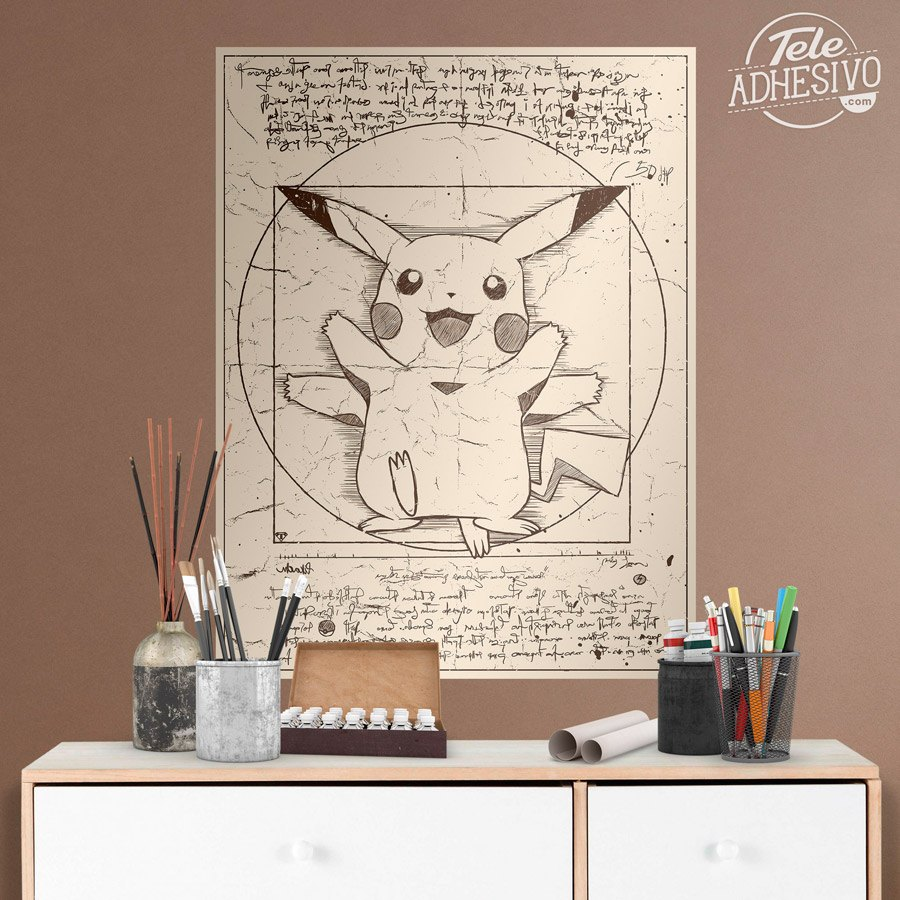 Wall Stickers: Pikachu Vitruvius 5