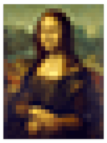 Wall Stickers: Poster Mona Lisa Gioconda Pixel