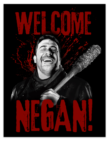 Wall Stickers: Adhesive poster Welcome Negan TWD