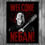 Wall Stickers: Adhesive poster Welcome Negan TWD 3