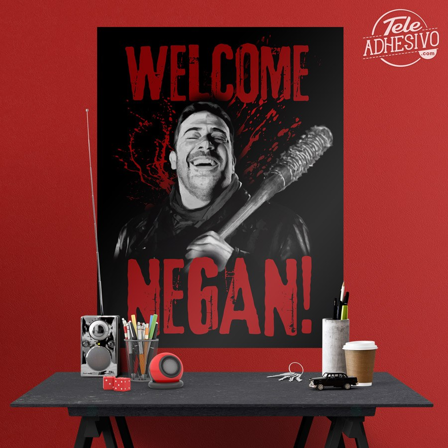 adhesive poster welcome negan twd wall stickers adhesive poster welcome negan twd