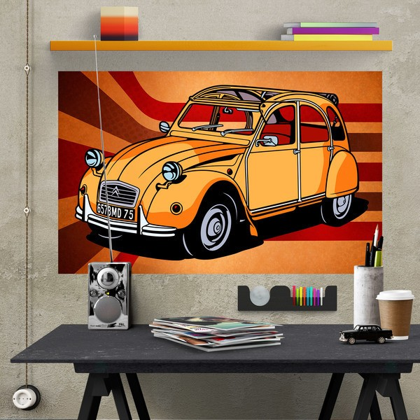 Wall Stickers: Adhesive poster Citroën 2CV