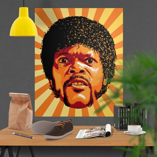 Wall Stickers: Adhesive poster Jules Winnfield Pulp Fiction