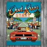 Wall Stickers: Adhesive poster Out Run Arcade 3