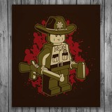 Wall Stickers: Adhesive poster Rick Grimes Lego 3