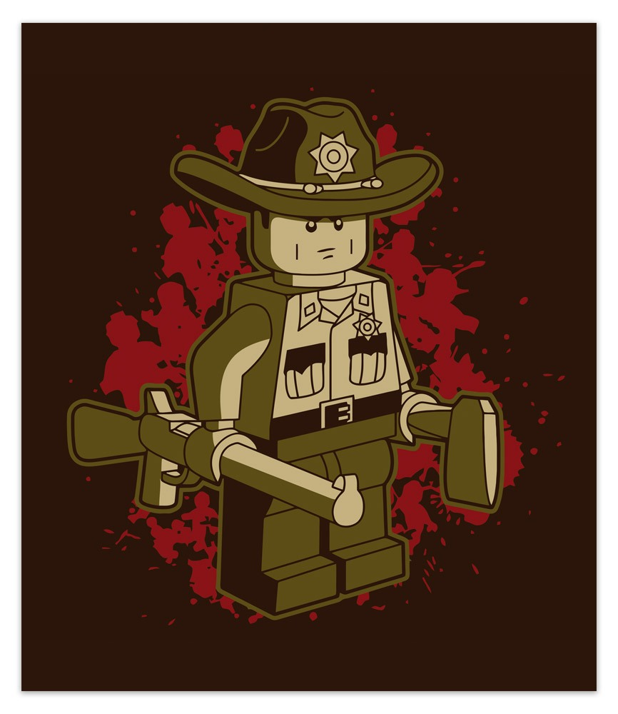 Wall Stickers: Adhesive poster Rick Grimes Lego