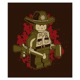 Wall Stickers: Adhesive poster Rick Grimes Lego 4