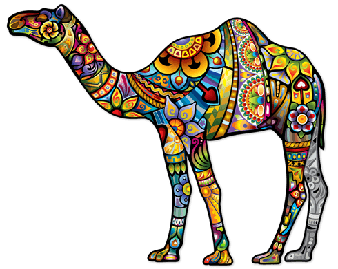Wall Stickers: Indian Dromedary