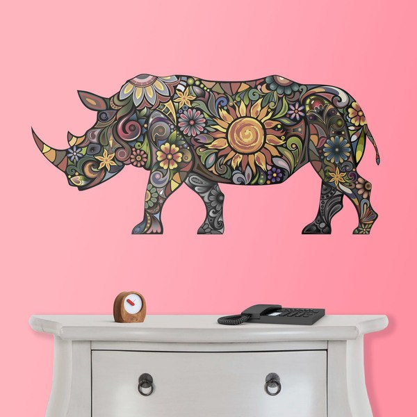 Wall Stickers: Hindu Rhinoceros