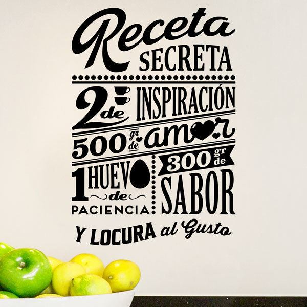 Wall Stickers: Secret recipe - spanish 0