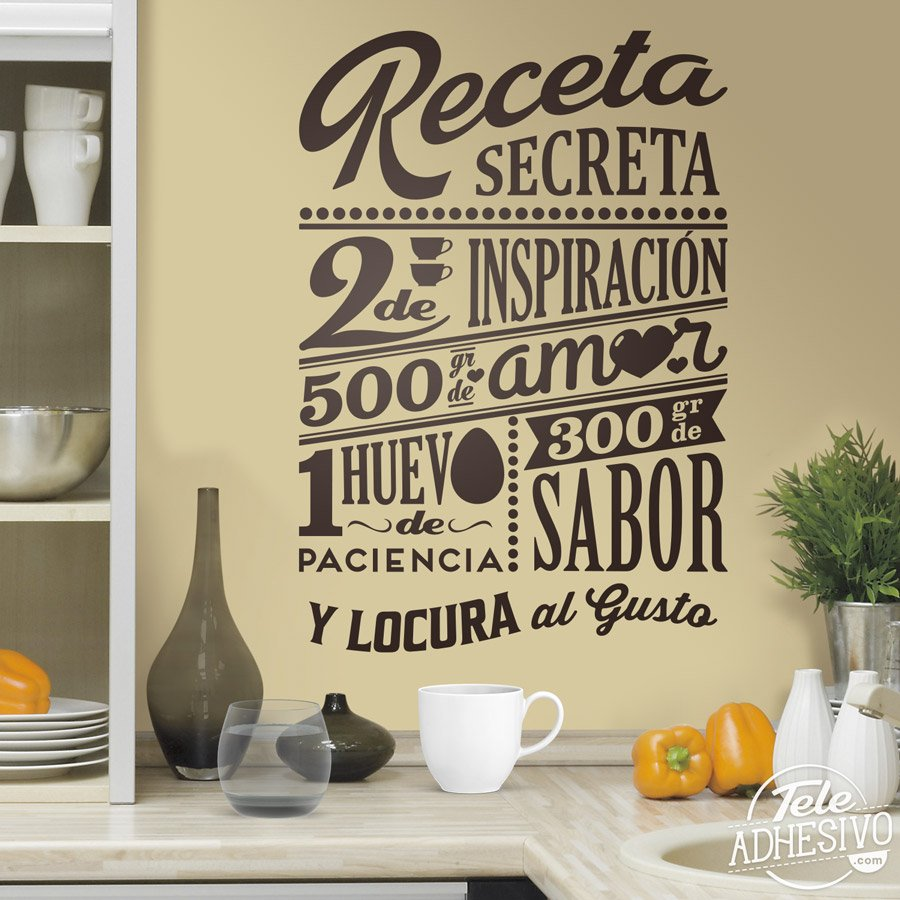 Wall Stickers: Secret recipe - spanish