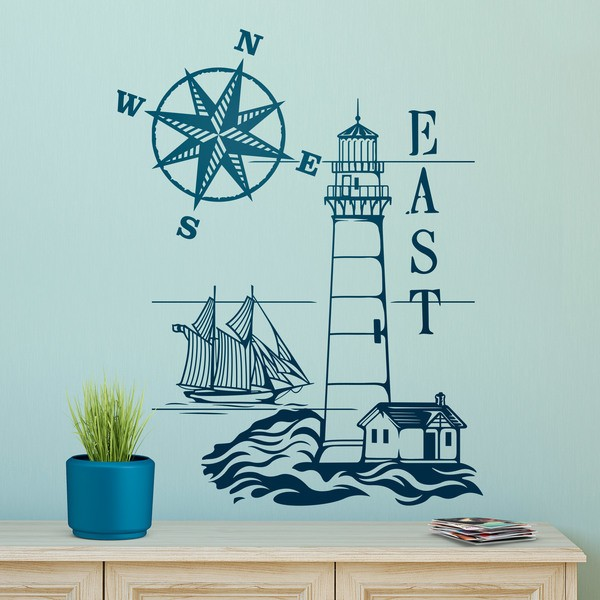 Wall Stickers: Lighthouse and Compass Rose