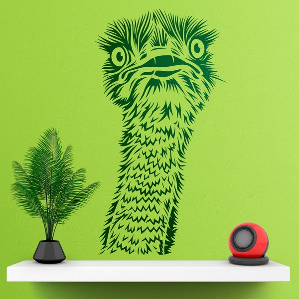 Wall Stickers: Ostrich head
