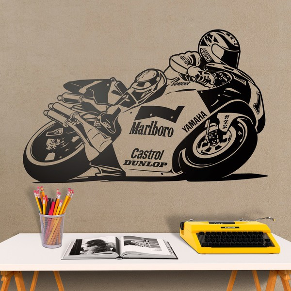 Wall Stickers: Yamaha Motorcycle Wayne Rainey