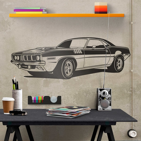 Wall Stickers: Ford Mustang Muscle Car 0