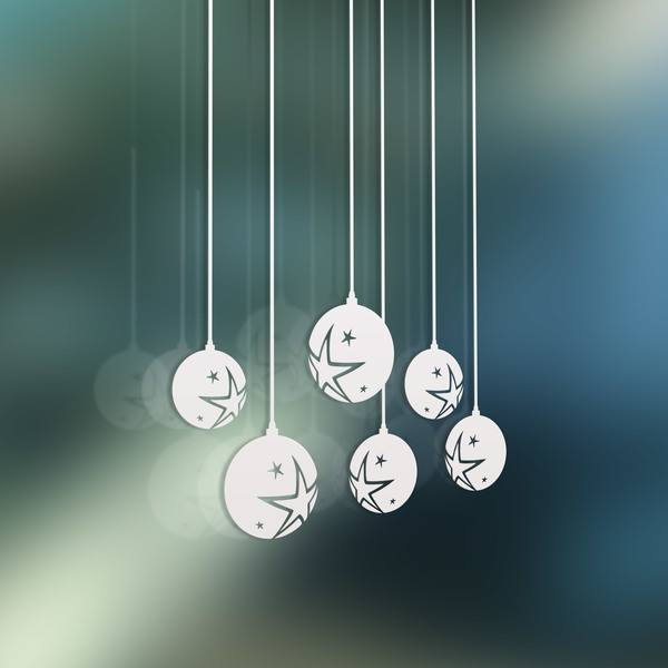 Wall Stickers: Christmas balls with stars