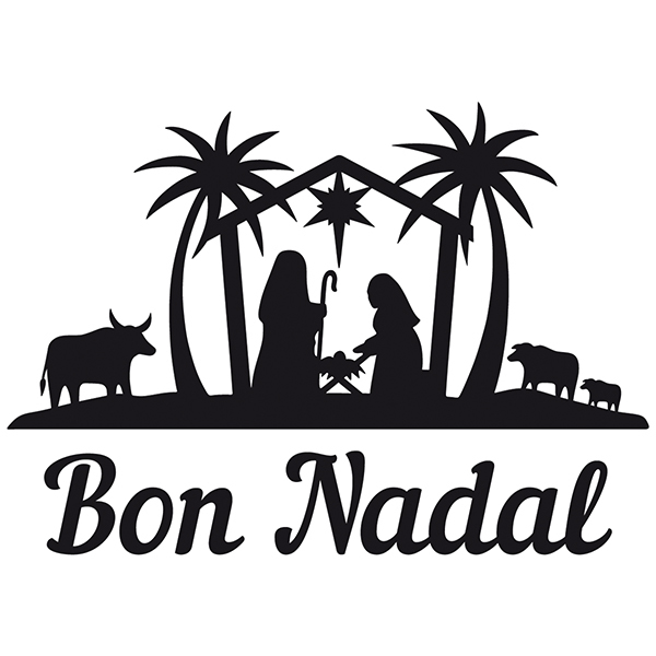 Wall Stickers: Bon Nadal in the Bethlehem portal