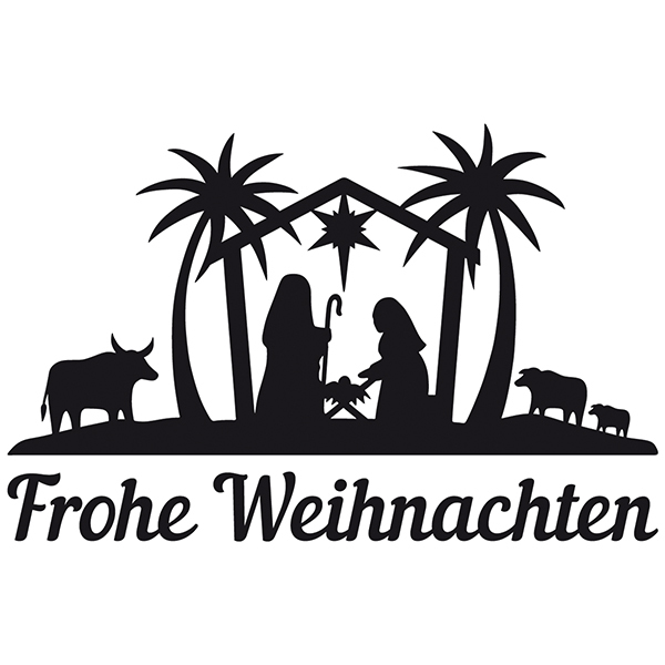 Wall Stickers: Frohe Weihnachten in the Bethlehem portal