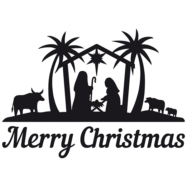 Wall Stickers: Merry Christmas in the Bethlehem portal
