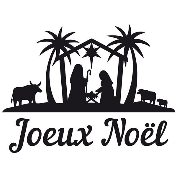 Wall Stickers: Joyeux Noël in the Bethlehem portal