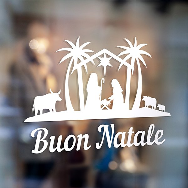 Wall Stickers: Buon Natale in the Bethlehem portal