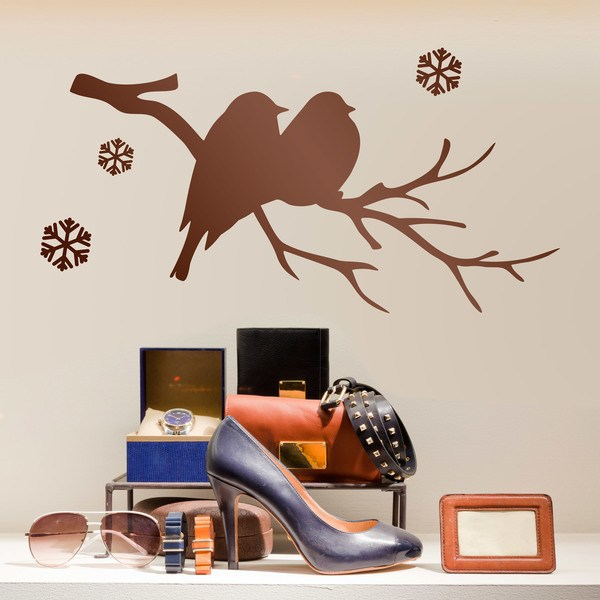 Wall Stickers: Birds on branch and snow