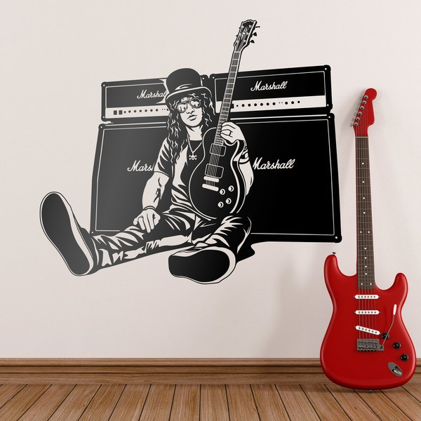 Wall Stickers: Slash, guitar and speakers