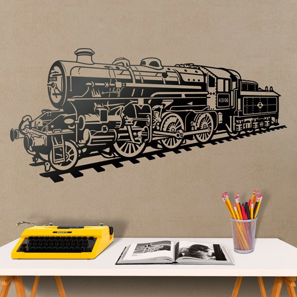 Wall Stickers: Steam train locomotive