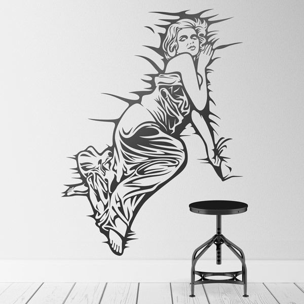 Wall Stickers: Marilyn Monroe between sheets
