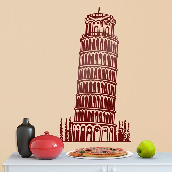 Wall Stickers: Leaning Tower of Pisa