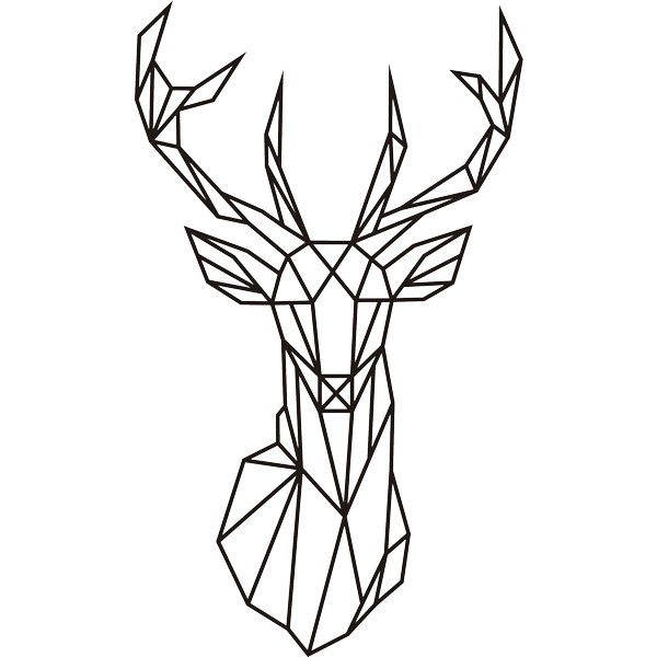 Wall Stickers: Origami geometric deer head