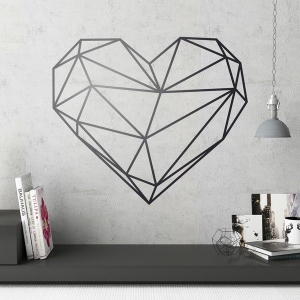 Wall Stickers: Origami geometric heart