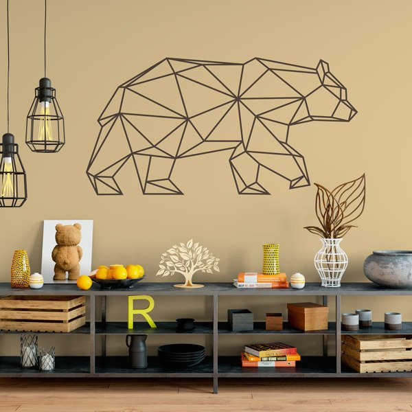 Wall Stickers: Origami Geometric Bear
