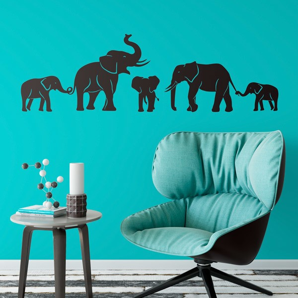Wall Stickers: Herd of elephants