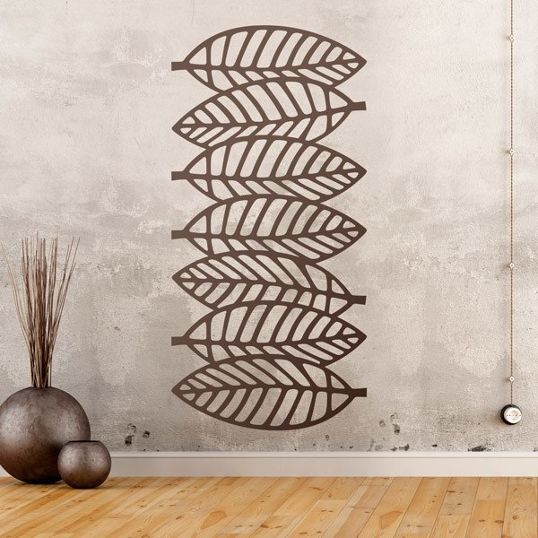Wall Stickers: Leaf ornamental print sheet 3