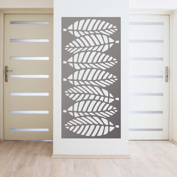 Wall Stickers: Leaf ornamental print sheet 4