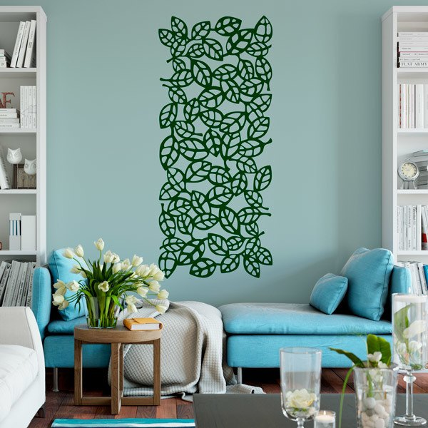 Wall Stickers: Leaf ornamental print sheet 6