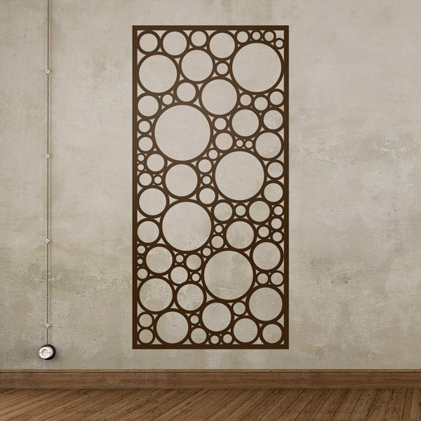 Wall Stickers: Abstract Stamped Circles Print