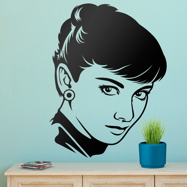 Wall Stickers: The Look of Audrey Hepburn