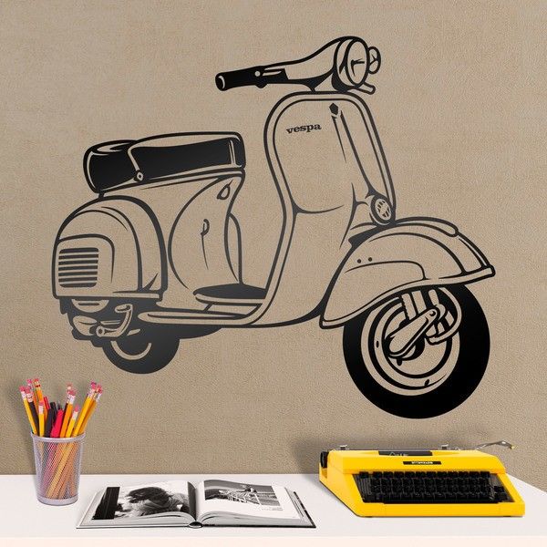 Wall Stickers: Moto Vespa