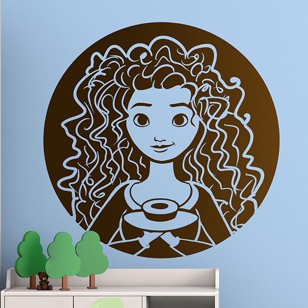 Stickers for Kids: Princess Merida, Brave - Indomitable
