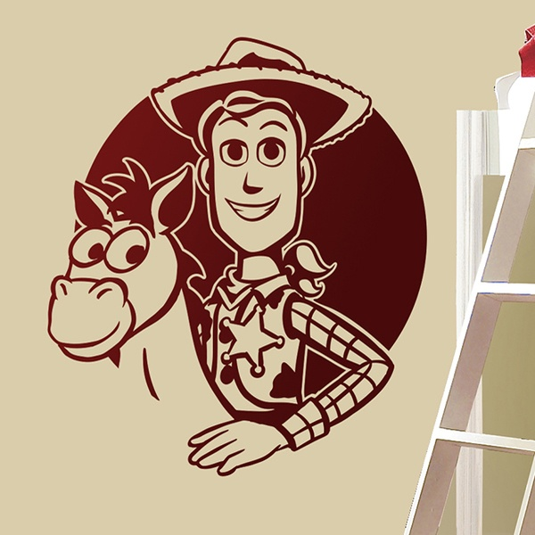Stickers for Kids: Toy Story. Woody and Bullseye