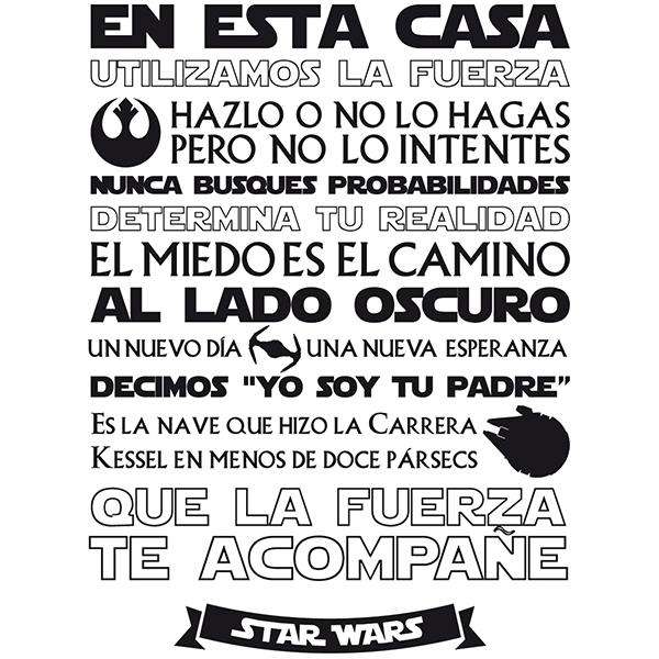 Wall Stickers: En esta Casa - Star Wars