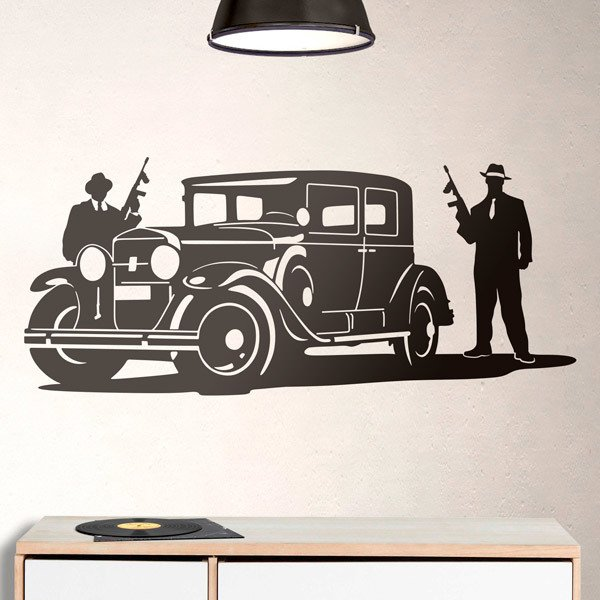 Wall Stickers: Al Capone gangsters and armored Cadillac