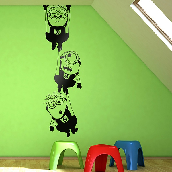 Wall Stickers: Minions hanging 0