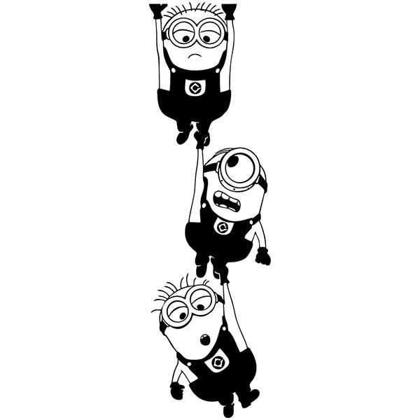Wall Stickers: Minions hanging