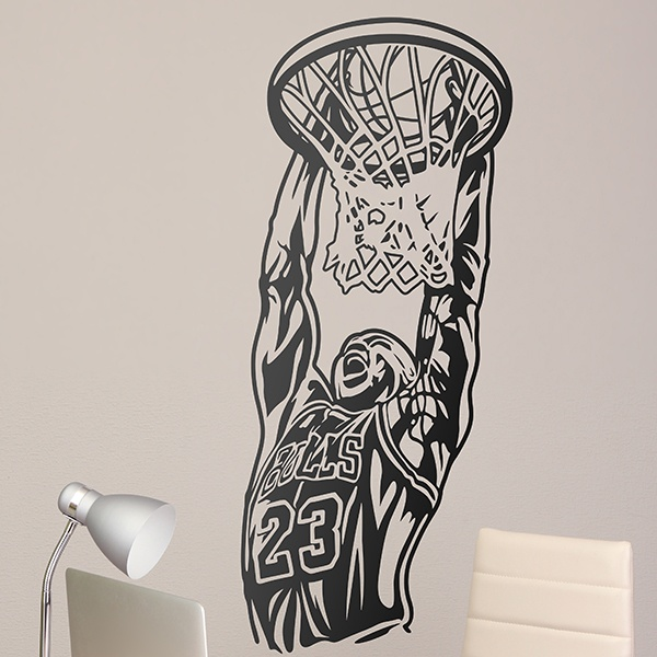 Wall Stickers: Jordan getting into the basket 0