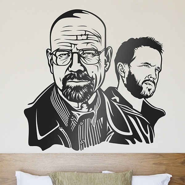 Wall stickers breaking bad walter white and jessie pinkman