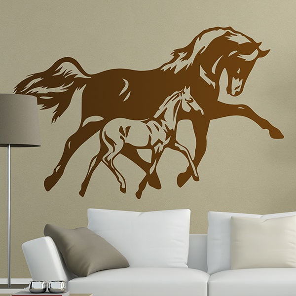 Wall Stickers: Horse and foal