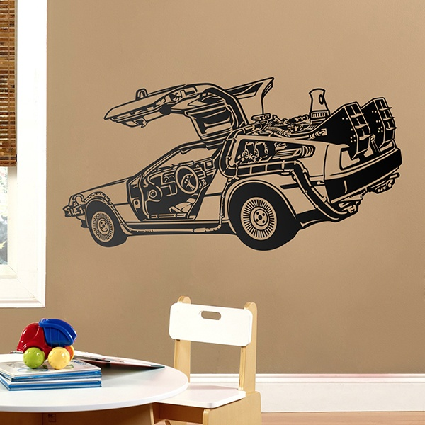 Wall Stickers: DeLorean 0